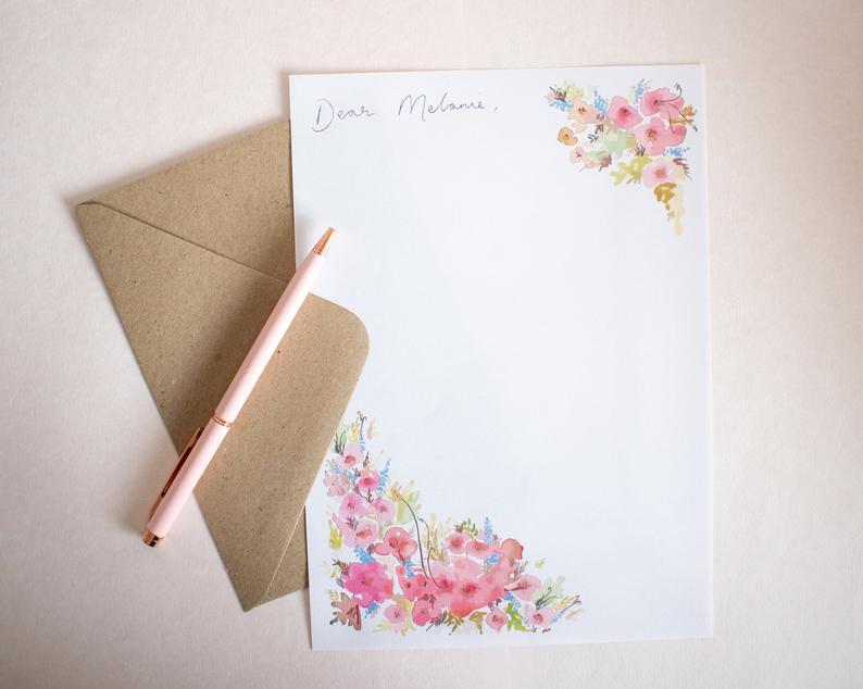 lauren marie studio stationery letter writing set gift christmas