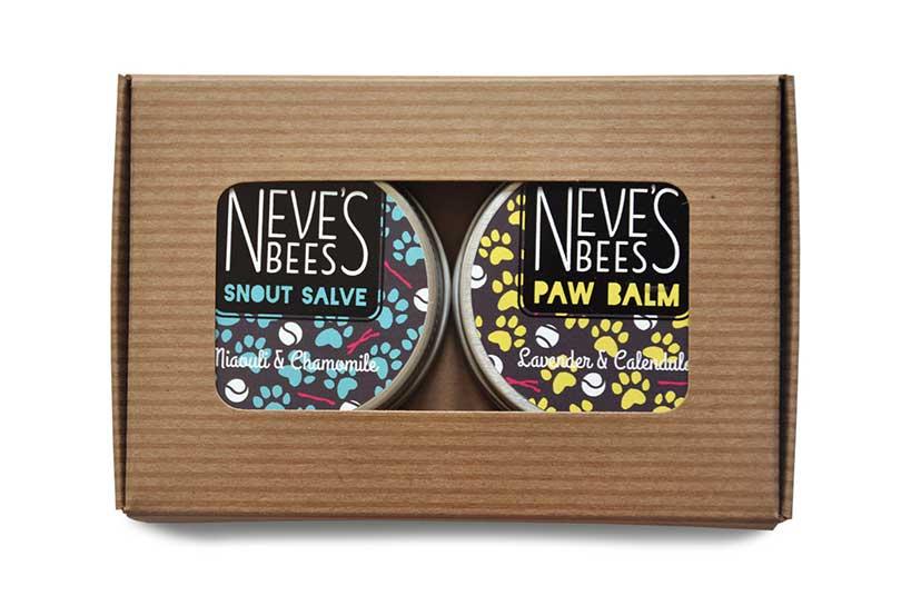 neves bees pet dog gift set paw salve snout salve